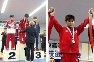 男子55kg級表彰